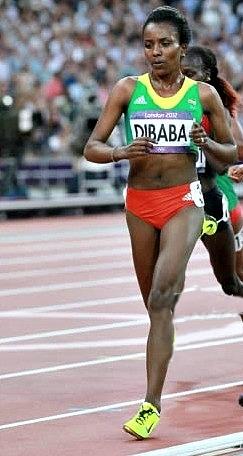 Tirunesh Diabab forefoot running