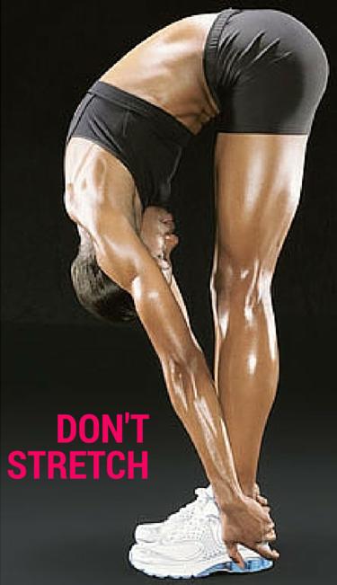 Avoid Stretching Before Running