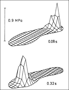 center of pressure in heel strike running
