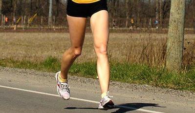 Severe knee injury in running