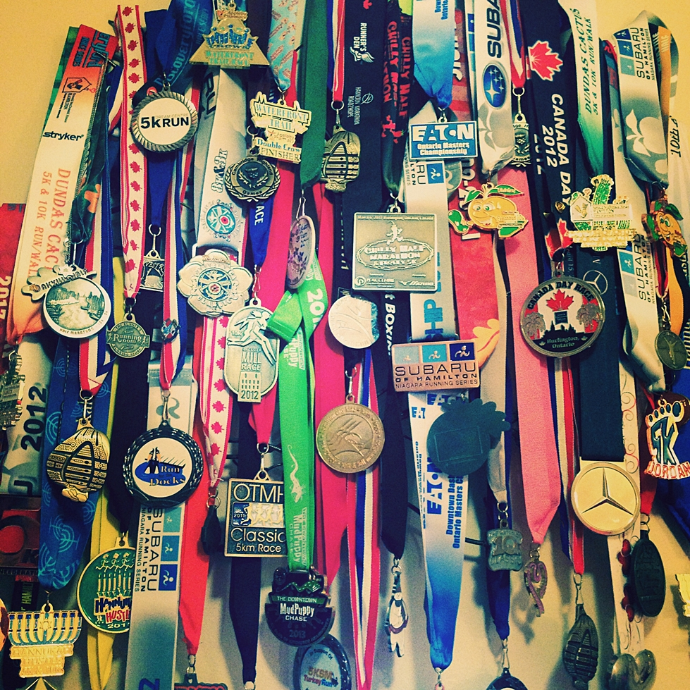 road racing medals after learning forefoot running