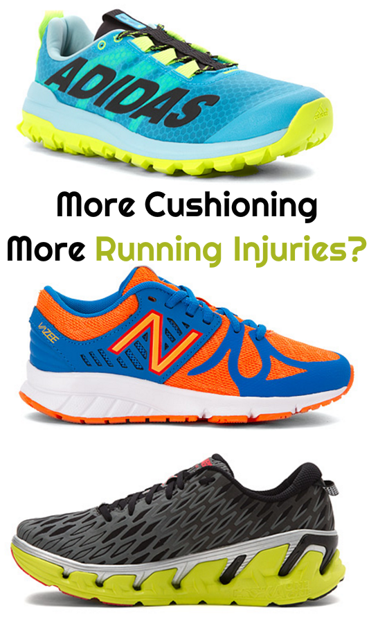 More Running Shoe Cushioning, More Running Injuries