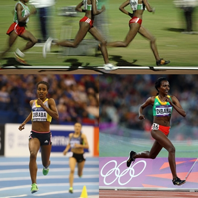 Tirunesh and Genzebe Dibaba are forefoot strikers