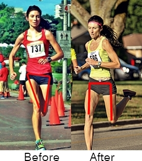 Thighs pointing inward when running