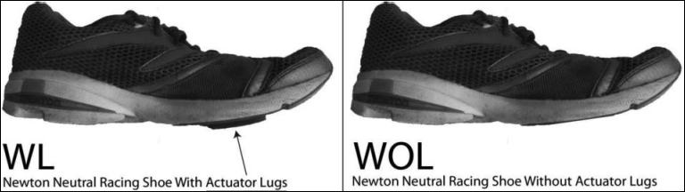 Actuator lugs Newton Running Shoes