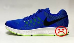 Thick heel in Nike Air Zoom Pegasus 31