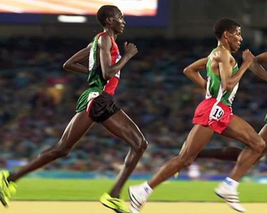 East African runners look down when they run