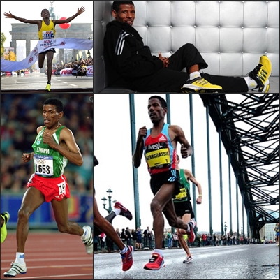 Haile Gebrselassie foot strike and running form