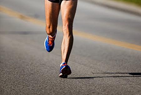 Impact from heel strike running may cause leg cramps