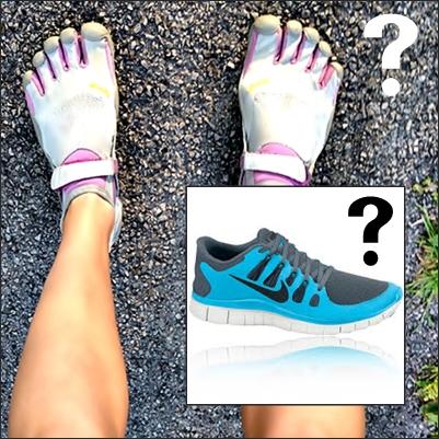 Vibram Five Fingers vs Nike Free for Forefoot Running