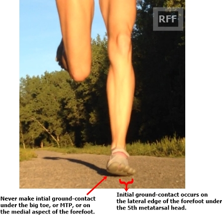 how to run barefoot with a forefoot strike
