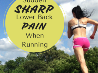Sudden Sharp Lower Back Pain While Running