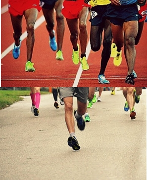 Forefoot running uses different muscle groups than heel strike running