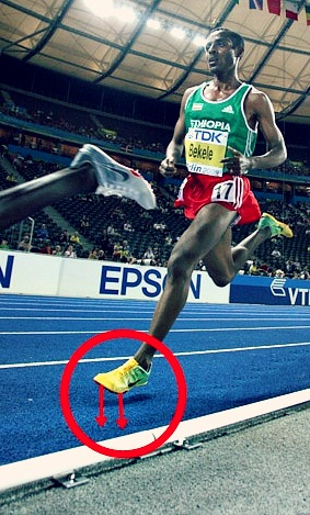 Ethiopian marathon runners forefoot strike
