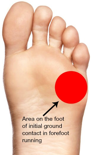Where to Land on Your Forefoot When Running