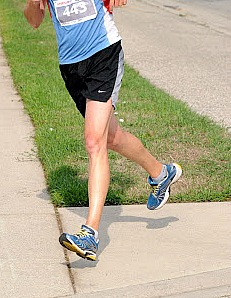 Running shoes increase pronation of the foot