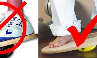 3 Benefits to Balance Barefoot on a Wobble Board