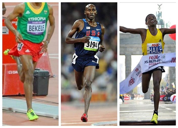 Runners who forefoot strike: Kenenisa Bekele, Bernard Lagat, Haile Geb