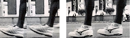 High Heel Running Shoes Cause Careless Footfalls During Running