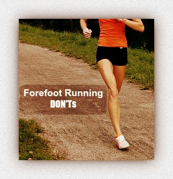 Running tips for forefoot strikers