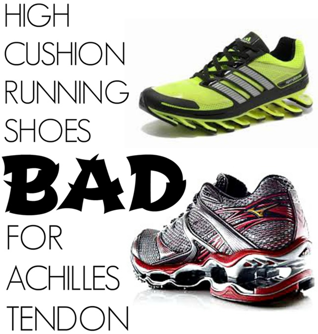 premium selection 148c2 38de9 High Cushion Running Shoes Bad for Achilles Tendon