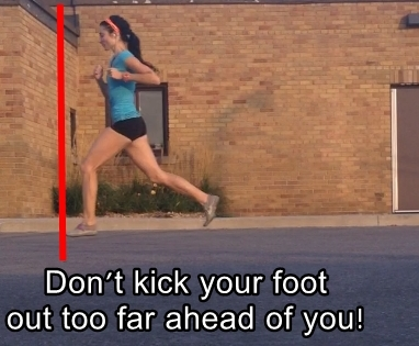 Dont Over-Reach with Your Swing Leg in Forefoot Running