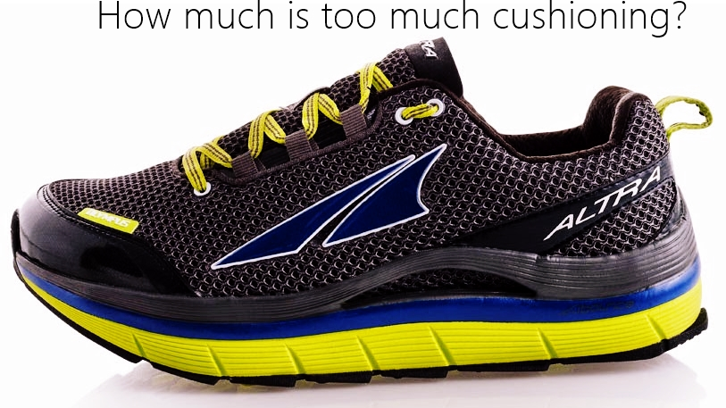 Thick Cushioned Low Heel to Toe Drop Running Shoes No Metabolic Advantage ca36cfa8a975