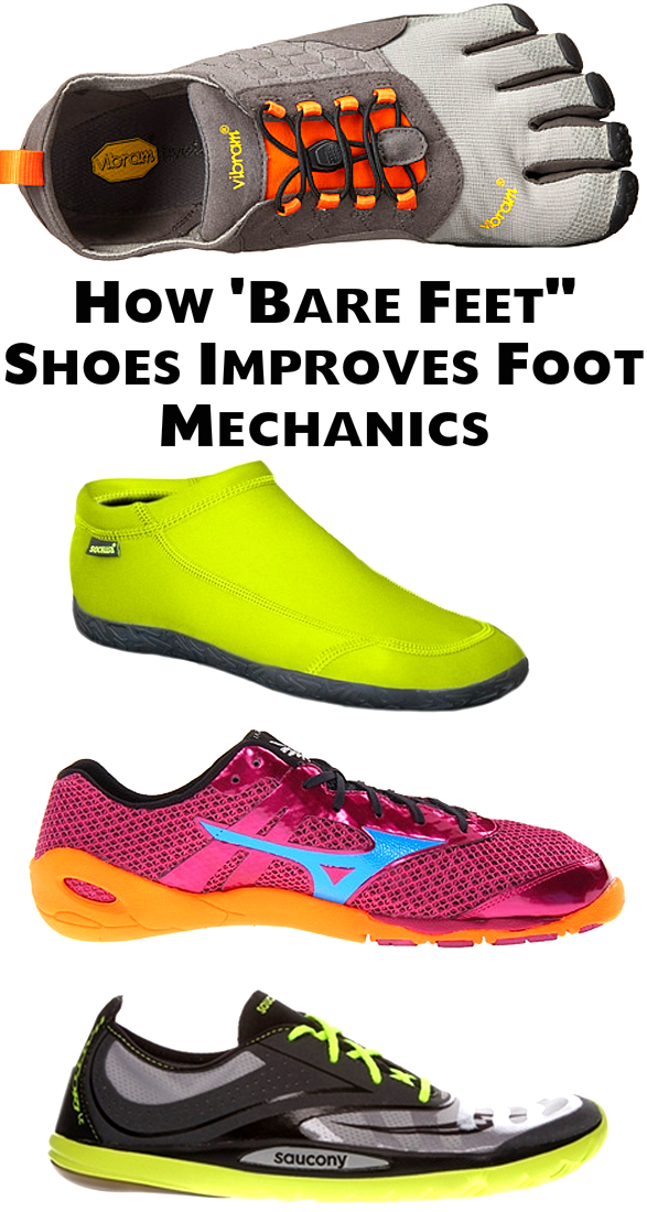 Bare Feet Shoes Allows Natural Foot Motions