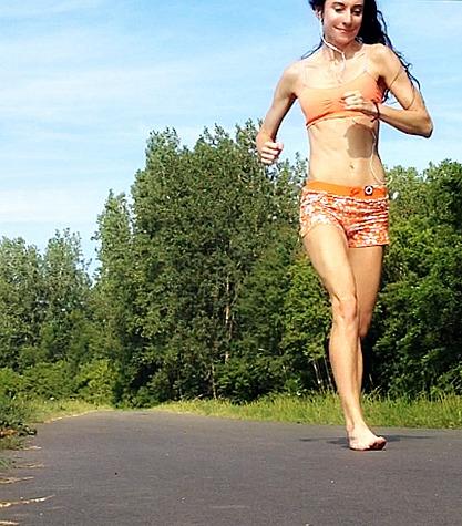 Running Barefoot on Pavement