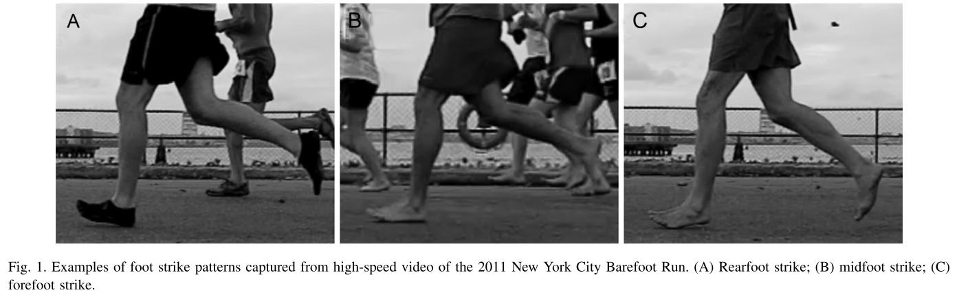 Foot Strike Pattern - Barefoot vs Minimalist Running Shoes