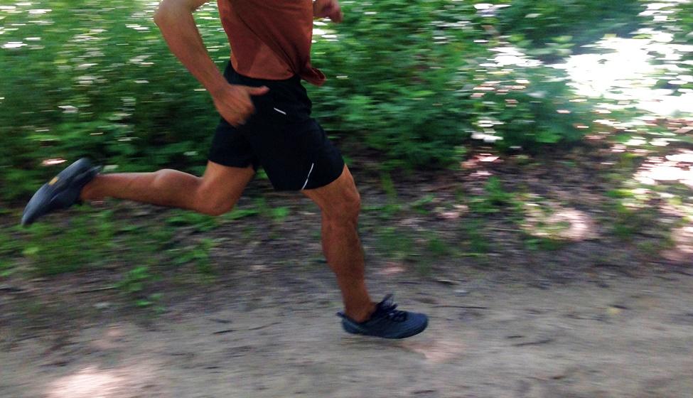 Running in Merrell Barefoot